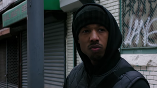 Scene from the film Creed, featuring Michael B. Jordan (shown)Creed