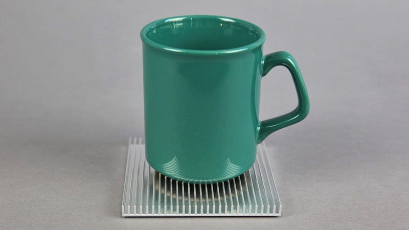 Heatsink Coasters Cool Hot Beverages While Protecting Your