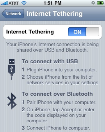 Illustration for article titled Enable Tethering on Your iPhone 3G or 3GS Running 3.1.2