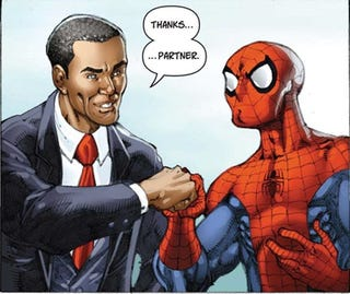 Illustration for article titled Obama Brings Disharmony To The Comic Book World