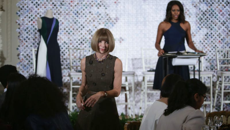 Illustration for article titled Caption This Pic of Anna Wintour and Michelle Obama