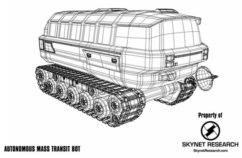 Illustration for article titled Terminator 4: Skynet Research Autonomous Mass Transit Bot