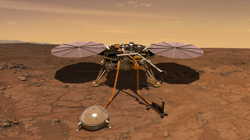 Artist's impression of InSight on Mars