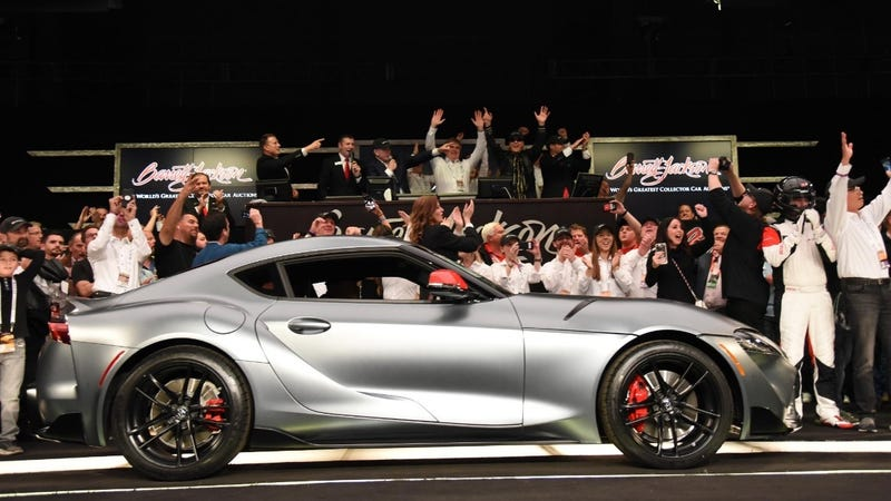 Illustration for article titled The First 2020 Toyota Supra Just Sold For $2.1 Million, and Everybody is Freaking Out