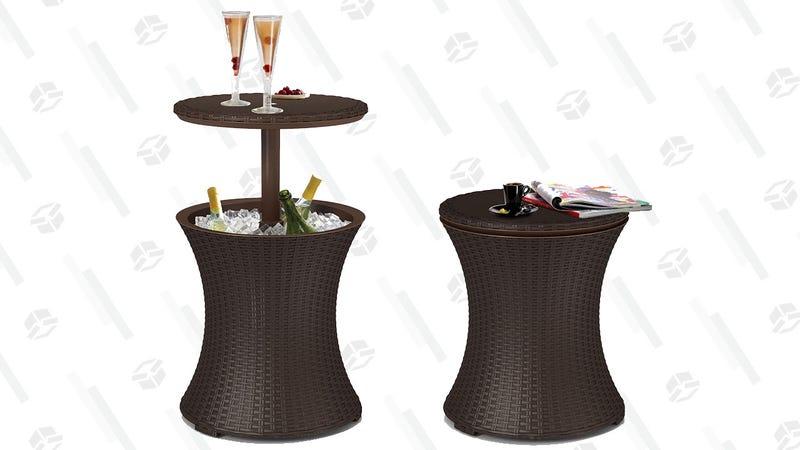 Keter 7.5-Gallon Cool Bar Patio Beverage Cooler Table | $56 | Walmart