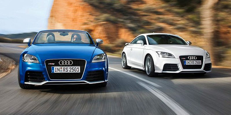 Illustration for article titled Audi TT RS: First Official Images