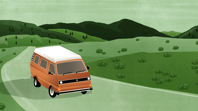 Illustration for article titled How to Drive Around for a Week in a 1981 VW Camper Van With Two Small Children