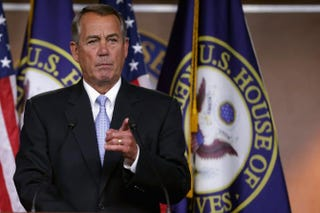 Speaker of the House John Boehner (R-Ohio)Chip Somodevilla/Getty Images