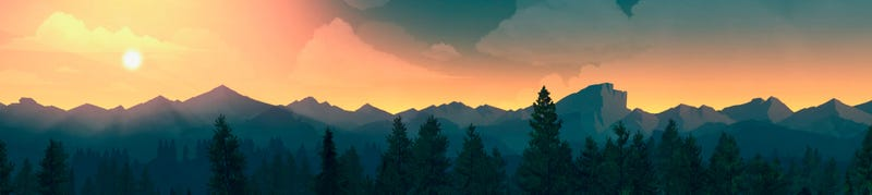 Illustration for article titled Firewatch Has Your Wallpaper Needs Covered For 2016