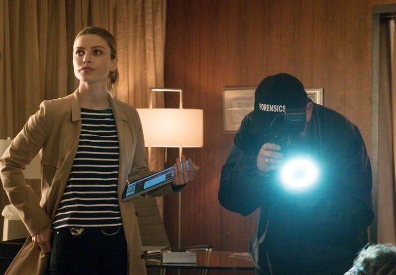 "Lauren German as Det. Chloe Decker on ""Lucifer."" Photo by Liane Hentscher/FOX"