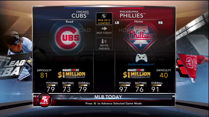 Illustration for article titled MLB 2K12's Perfect Game Challenge Does Judge You on Your Physical Skill