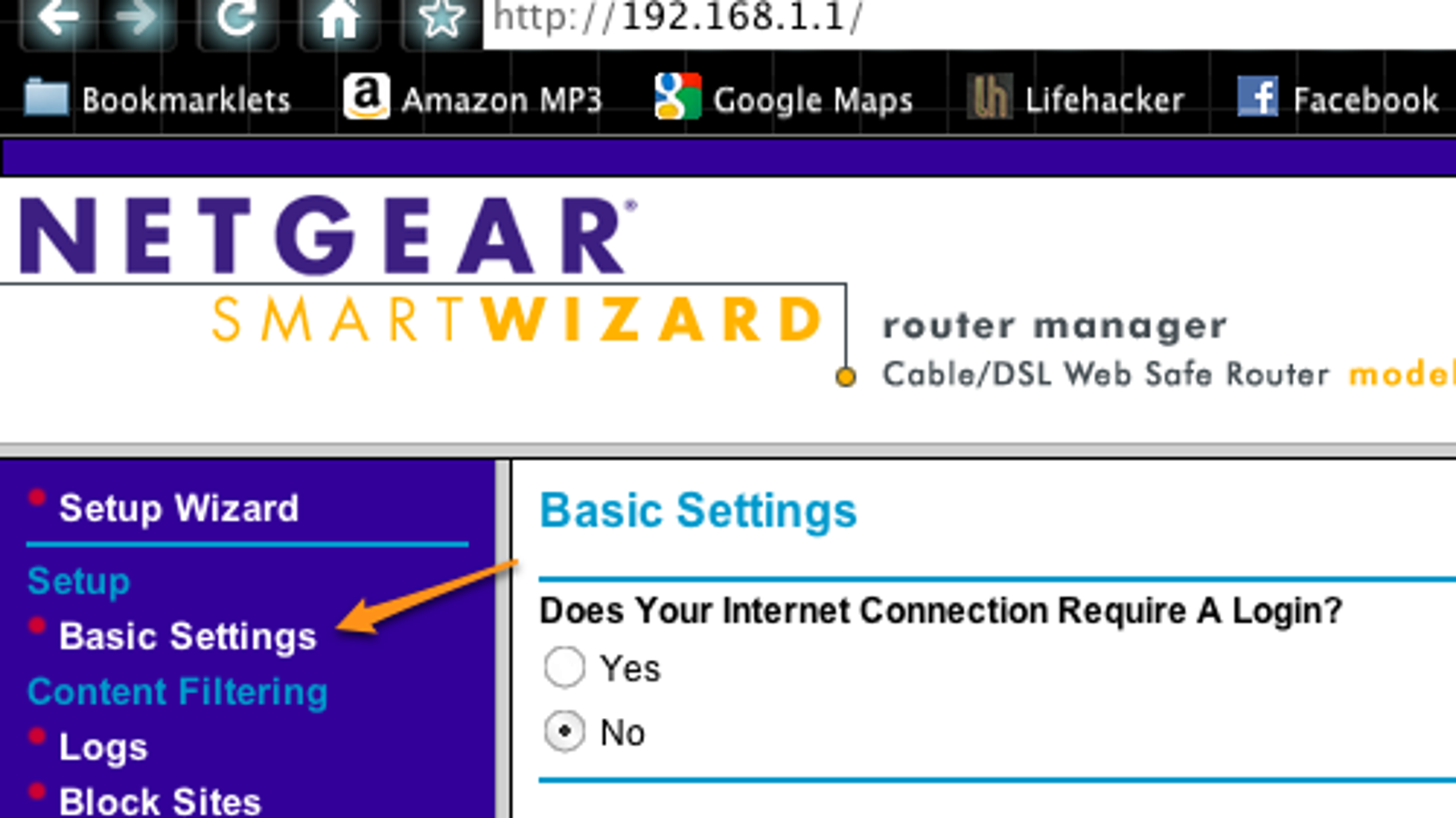 How to reset the router settings 84