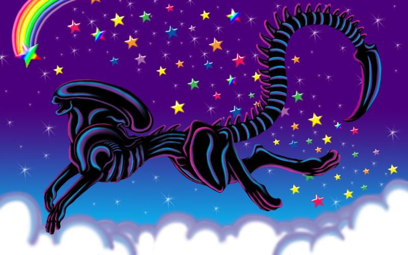 Illustration for article titled What if Lisa Frank made an Alien folder?