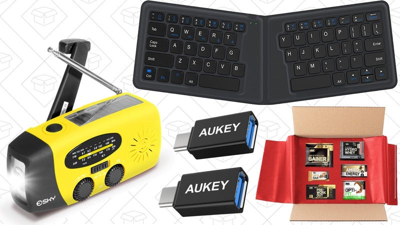 Illustration for article titled Today's Best Deals: Folding Keyboard, Emergency Radio, USB-C Adapters