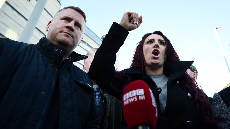 Britain First leaders Paul Golding and  Jayda Fransen. (Photo: Getty)