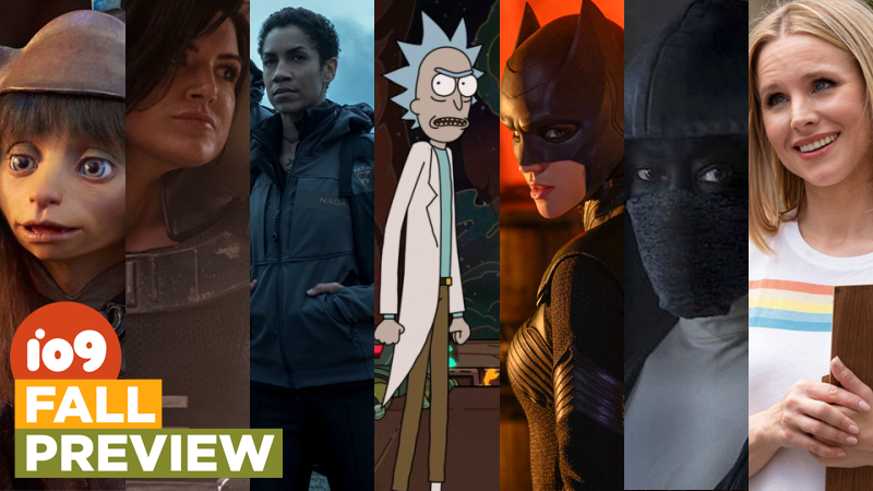 From left: The Dark Crystal: Age of Resistance, The Mandalorian, The Expanse, Rick and Morty, Batwoman, Watchmen, and The Good Place.