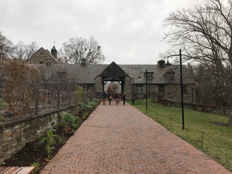 Young farmers entering Rockefeller's old dairy farm for the Young Farmers Conference at Stone Barns Center for Food and Agriculture. Photo credit: Lucas Isakowitz