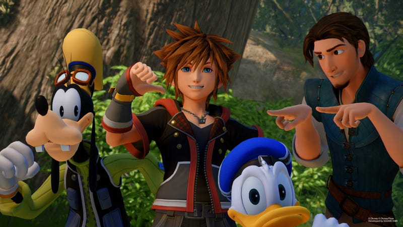 Illustration for article titled Kingdom Hearts 3 Starts Off With A Great Self-Aware Joke