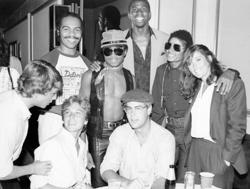 Magic Johnson, Marlon Jackson, Michael Jackson, Tatum O'Neal, Dan Aykroyd and Margot Kidder (1979)