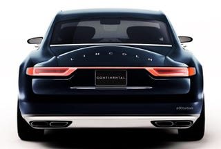 Illustration for article titled The Lincoln Continental now has a proper rear end