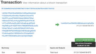 Illustration for article titled Így néz ki egy 19 milliárdos bitcoin-utalás