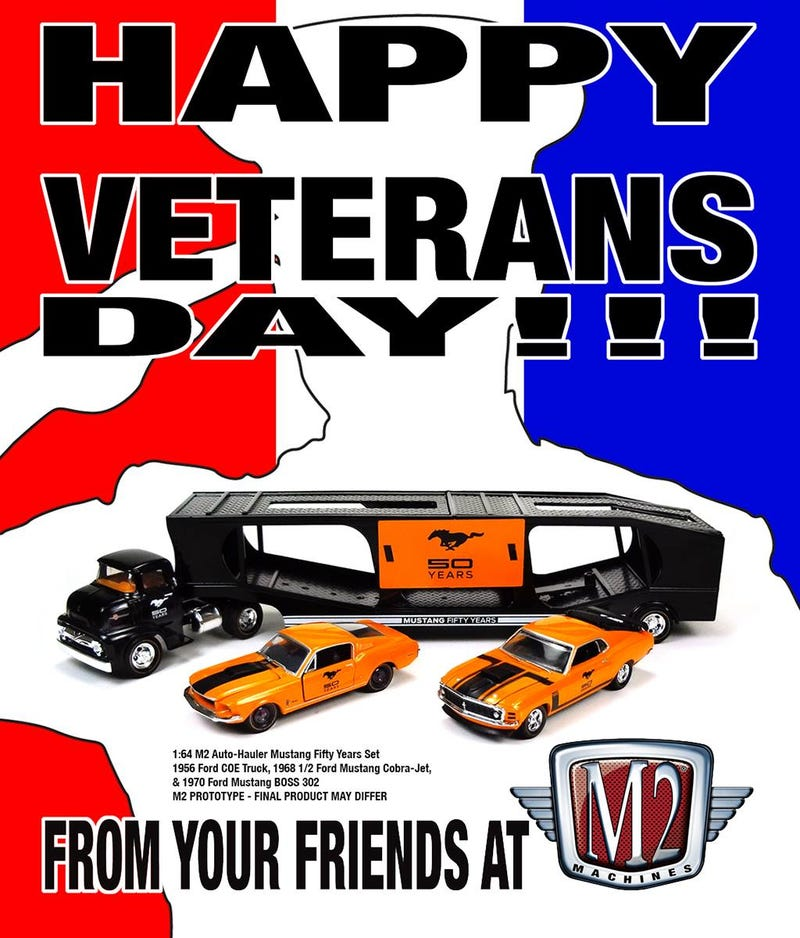 Illustration for article titled Happy Veterans Day from M2 Machines
