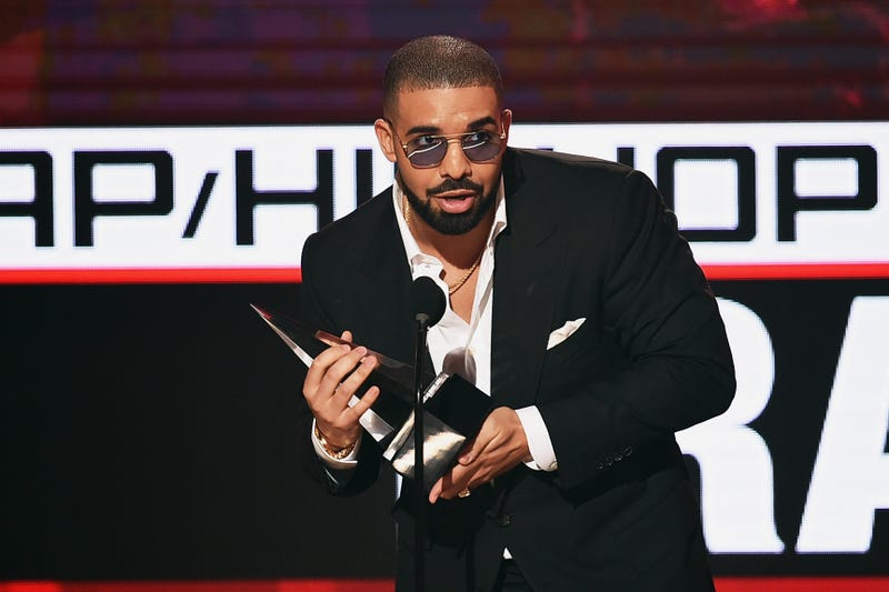 Drake accepts Favorite Rap/Hip-Hop Artist award during the 2016 American Music Awards in Los Angeles on Nov. 20, 2016.  Kevin Winter/Getty Images