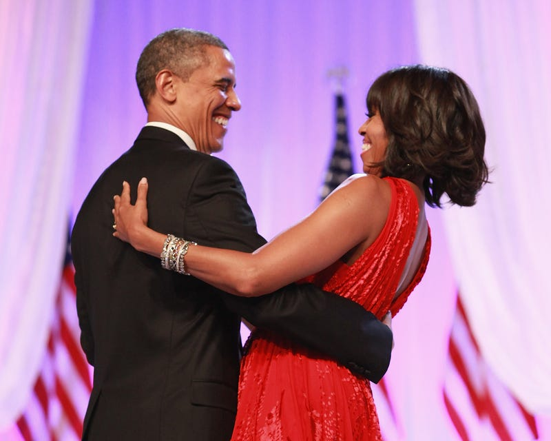 Lean into love: the Obamas at the inaugural ballGetty Images