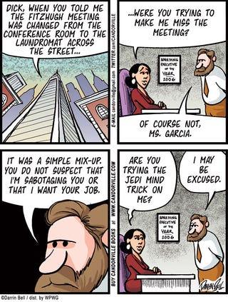 Illustration for article titled Candorville Comic: Jedi Mind Trick