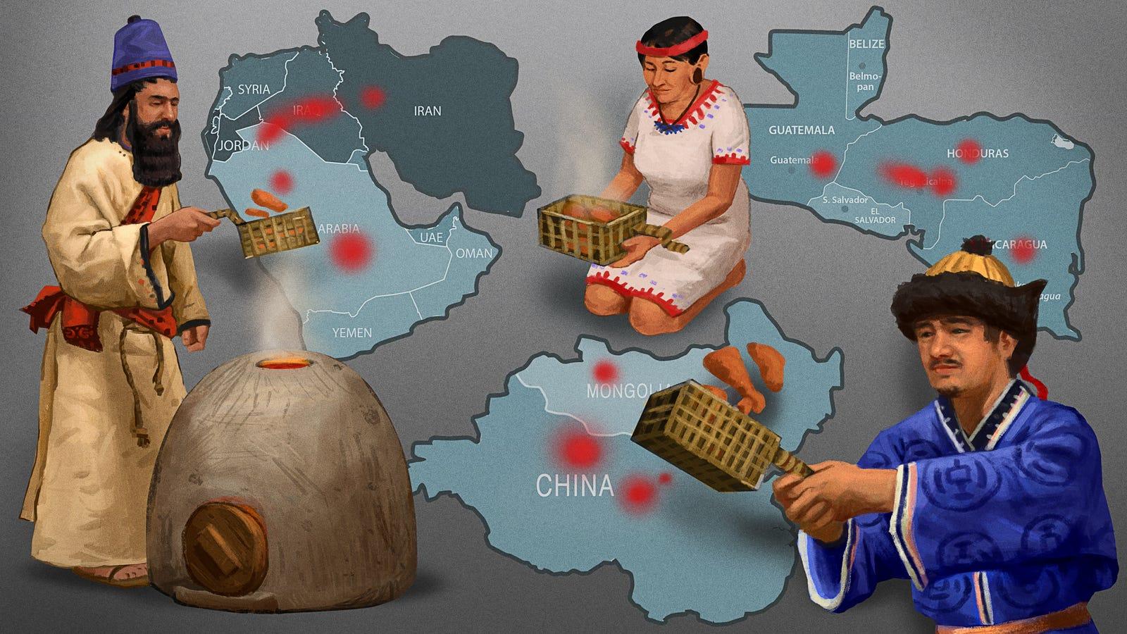 Historiker Zeigen Mehrere Wiegen Der Zivilisation Unabhängig Voneinander Entwickelt Chicken Tender Korb
