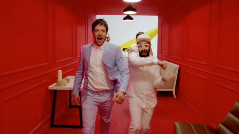 Illustration for article titled OK Go's newest video is actually a furniture store commercial