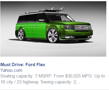 Illustration for article titled Facebook Has a Strange Fascination With Showing me Modified Flex's