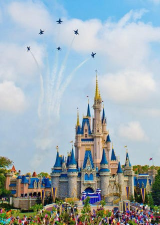 Illustration for article titled Blue Angels Sprinkle Their Own Magic Over Disney's Magic Kingdom