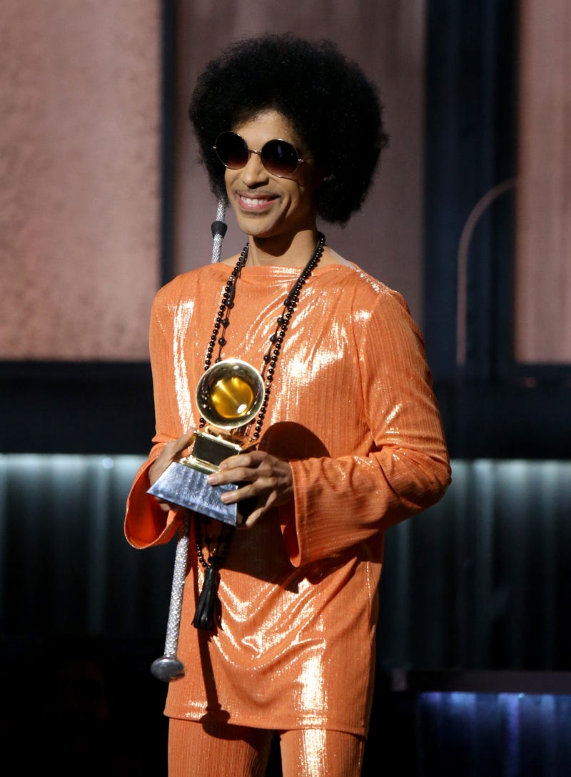 Prince during the Grammys in Los Angeles on Feb. 8, 2015Michael Tran/FilmMagic