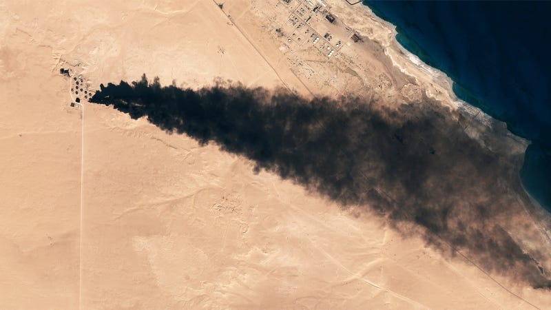 Illustration for article titled This Is What the ISIS Offensive Looks Like From Space