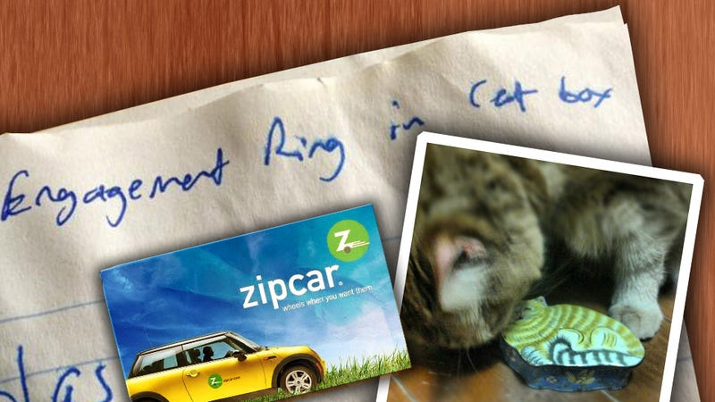 Illustration for article titled 'Engagement Ring In Catbox' Leads Zipcar User On Twitter Manhunt