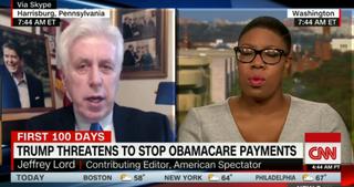 Jeffrey Lord and Bernie Sanders' former presidential-campaign press secretary, Symone D. Sanders (CNN screenshot)