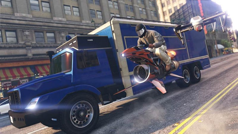 Illustration for article titled GTA Online's Newest Truck Is Really Helpful (And Pretty Expensive)