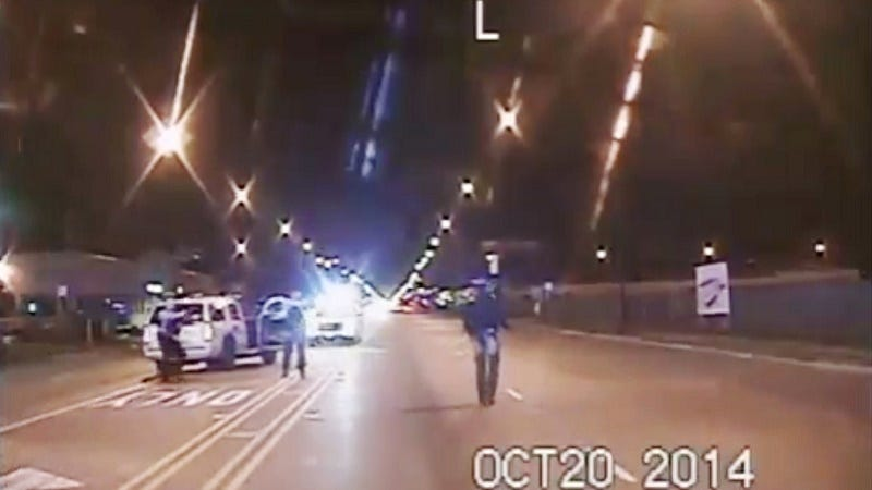 Illustration for article titled Chicago Police Release Footage ofLaquan McDonald Being Shot 16 Times