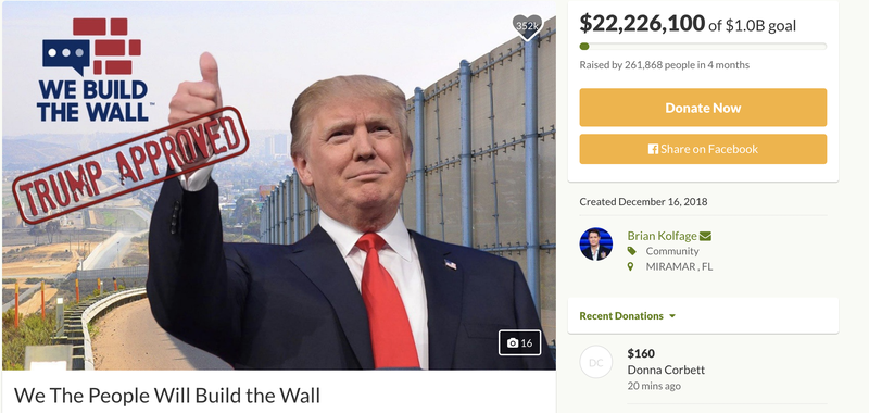 Illustration for article titled Man Who Raised $22 Million for Border Wall Breaks Silence to Say He's Going to Keep Being Silent With Y'all's Money