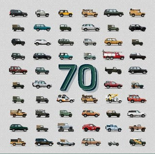 Illustration for article titled Land Rover is 70 Today