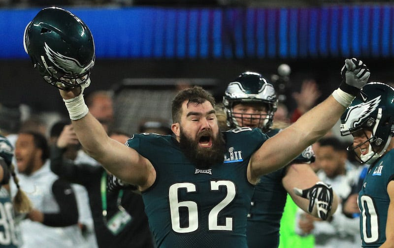 buy popular be447 505af Jason Kelce Says An Eagles Fan Poured Their Grandfather's ...