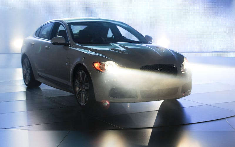 Illustration for article titled 2010 Jaguar XFR Launched Amid Dry Ice, Lasers