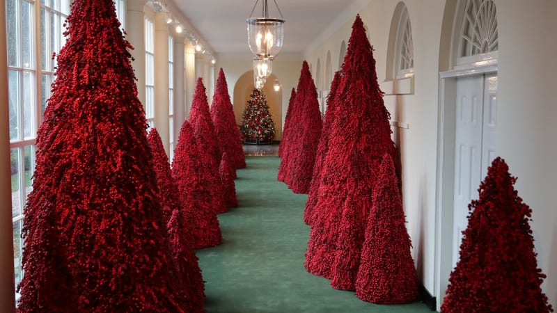 Illustration for article titled Melania Trump defends her terrifying, Lovecraftian blood trees