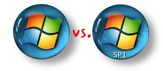 Illustration for article titled Battlemodo: Windows Vista Service Pack 1 RC1 vs. Shipping Vista