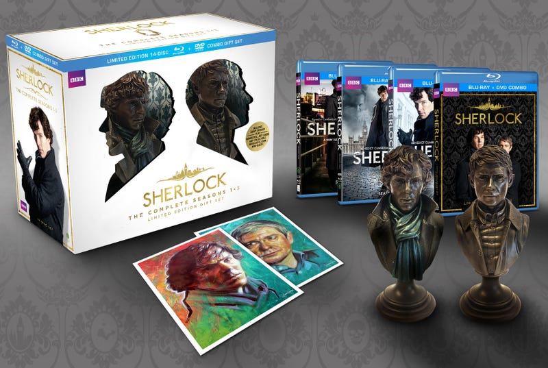 Illustration for article titled New Sherlock box set comes with slightly creepy Holmes and Watson busts