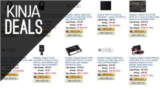 Illustration for article titled Kingston (and Other) Flash Storage Is Heavily Discounted Today