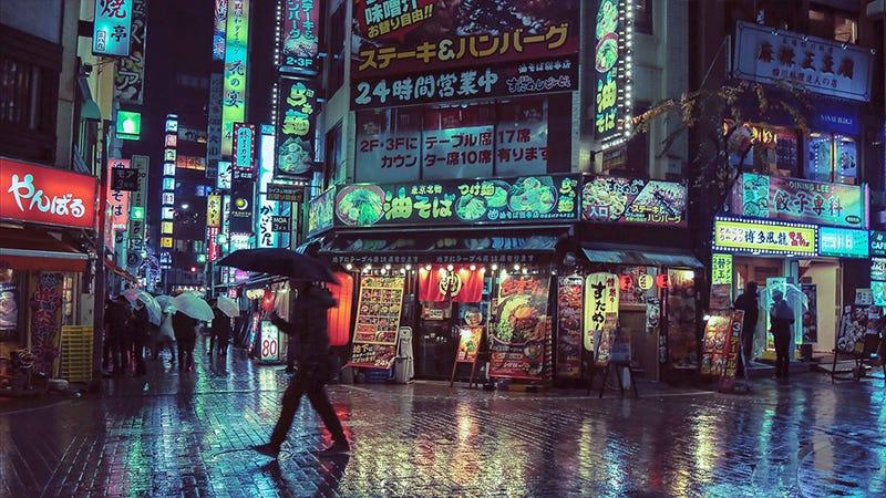 Illustration for article titled Tokyo Looks Best at Night