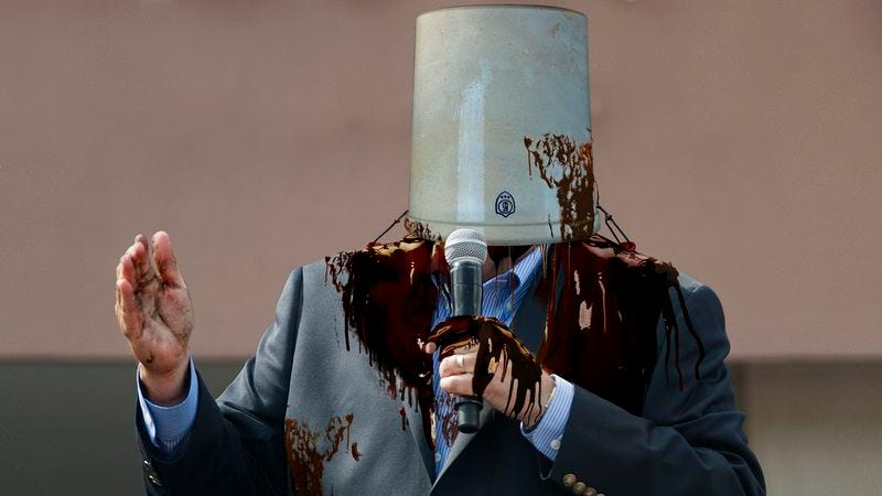 Illustration for article titled Huckabee Forced To Attend Fundraiser With Head Stuck In Molasses Crock
