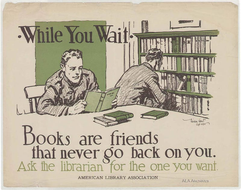Illustration for article titled Read to Win the War: 13 Vintage Posters Promoting American Libraries